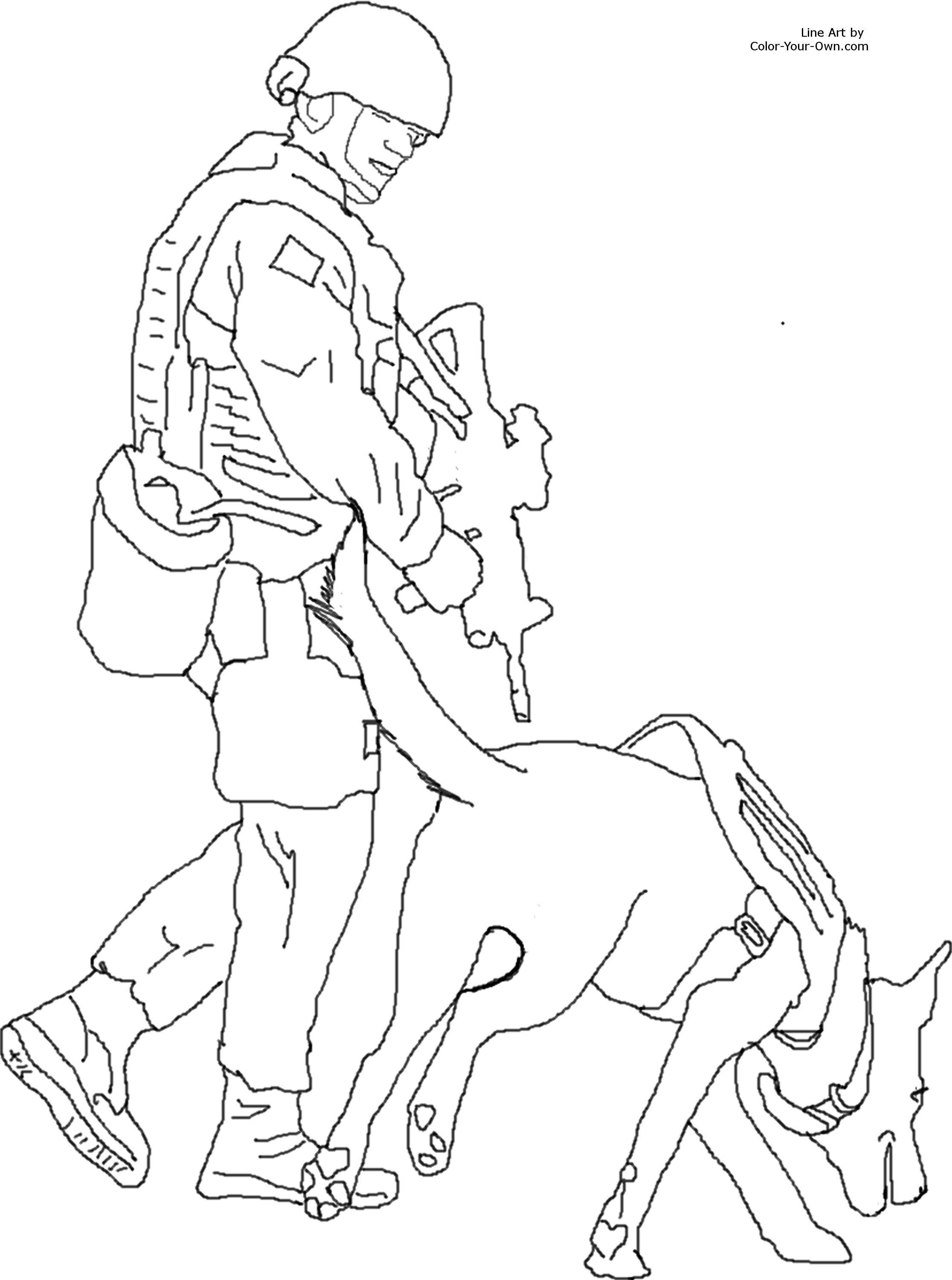 Service Dog Coloring Sheets Coloring Pages